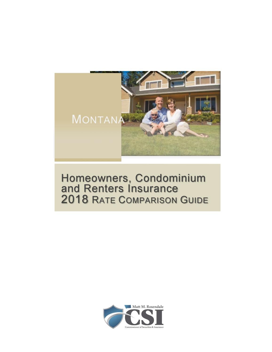 2018 Homeowners and Renters Insurance Rate Comparison ...