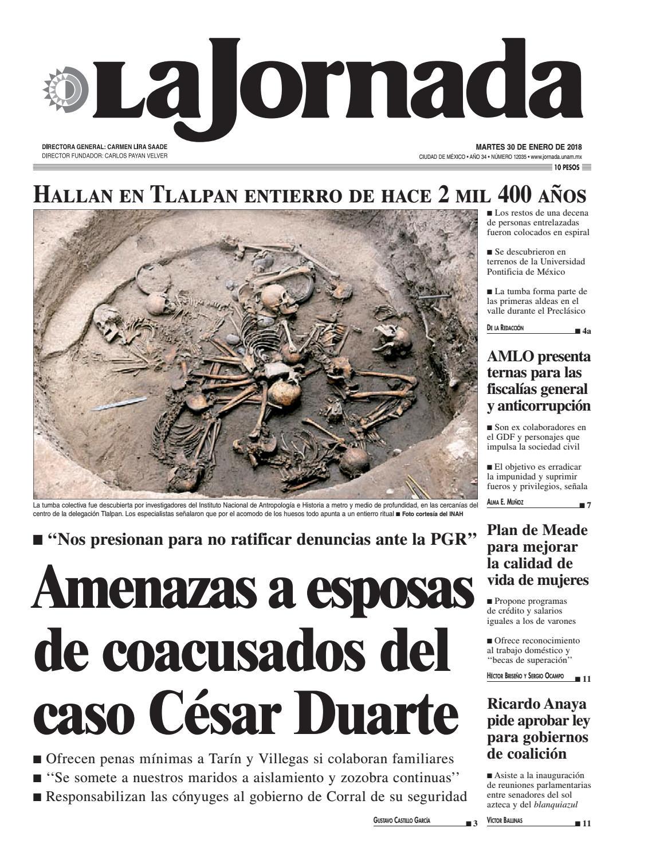 La Jornada, 01/30/2018 by La Jornada: DEMOS Desarrollo de Medios SA ...