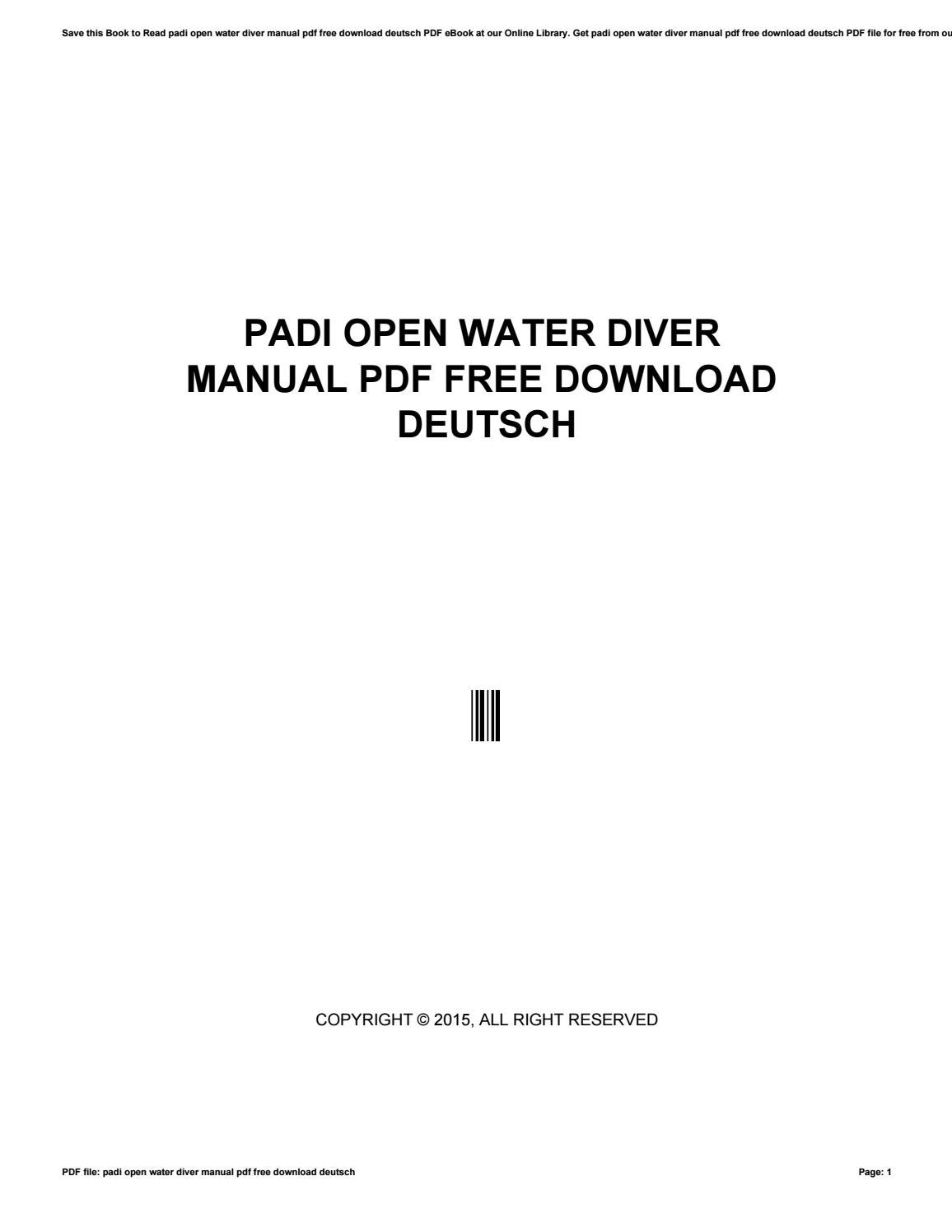 Padi open water diver manual pdf free download deutsch by kusrc68 padi open water diver manual pdf free download deutsch by kusrc68 issuu fandeluxe Choice Image