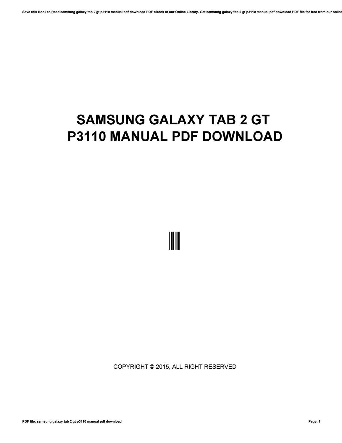 Manual tablet samsung galaxy tab 2 70 gt p3110 youtube.