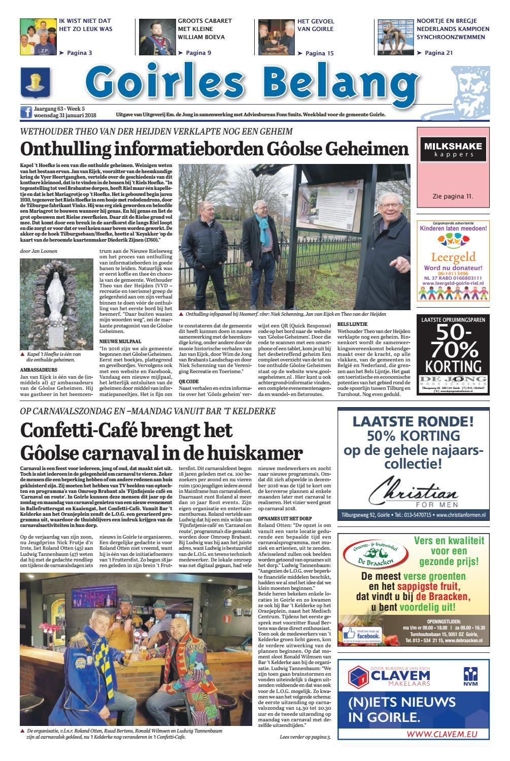 Goirles Belang 31 01 2018 By Uitgeverij Em De Jong Issuu Een Goudkleurig Zwaard Van Papier Knutselen