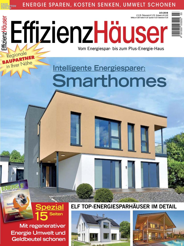 Delightful EffizienzHäuser 2/3 2018 By Fachschriften Verlag   Issuu