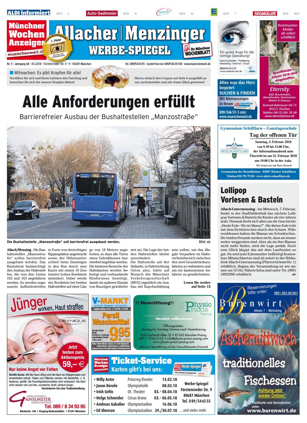 Kw 05 2018 By Wochenanzeiger Medien Gmbh Issuu