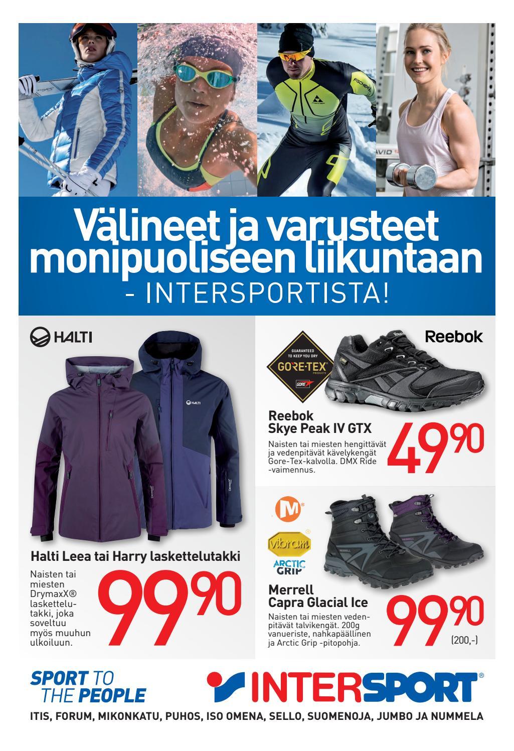 Pääkaupunkiseudun Intersportien tarjouksia monipuoliseen liikuntaan! by  Intersport Finland - issuu c0990019ee