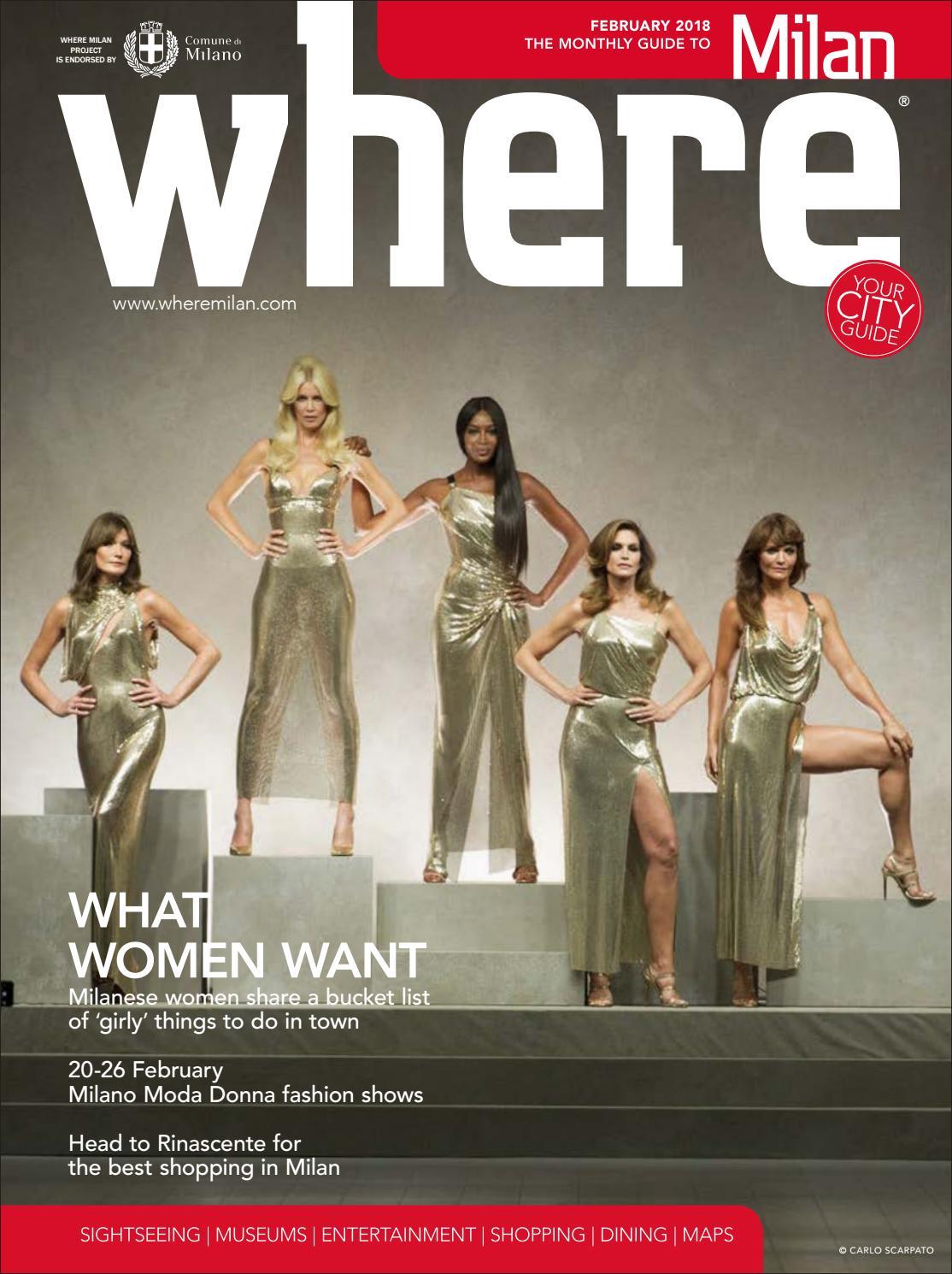 Where Magazine Milan Feb 2018 by Morris Media Network - issuu