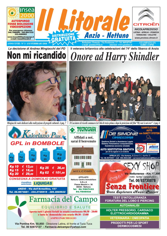 Il Litorale - Anno XVIII - n. 3 - 1 15 Febbraio 2018 by Il Pontino Il  Litorale - issuu a25c4596e31
