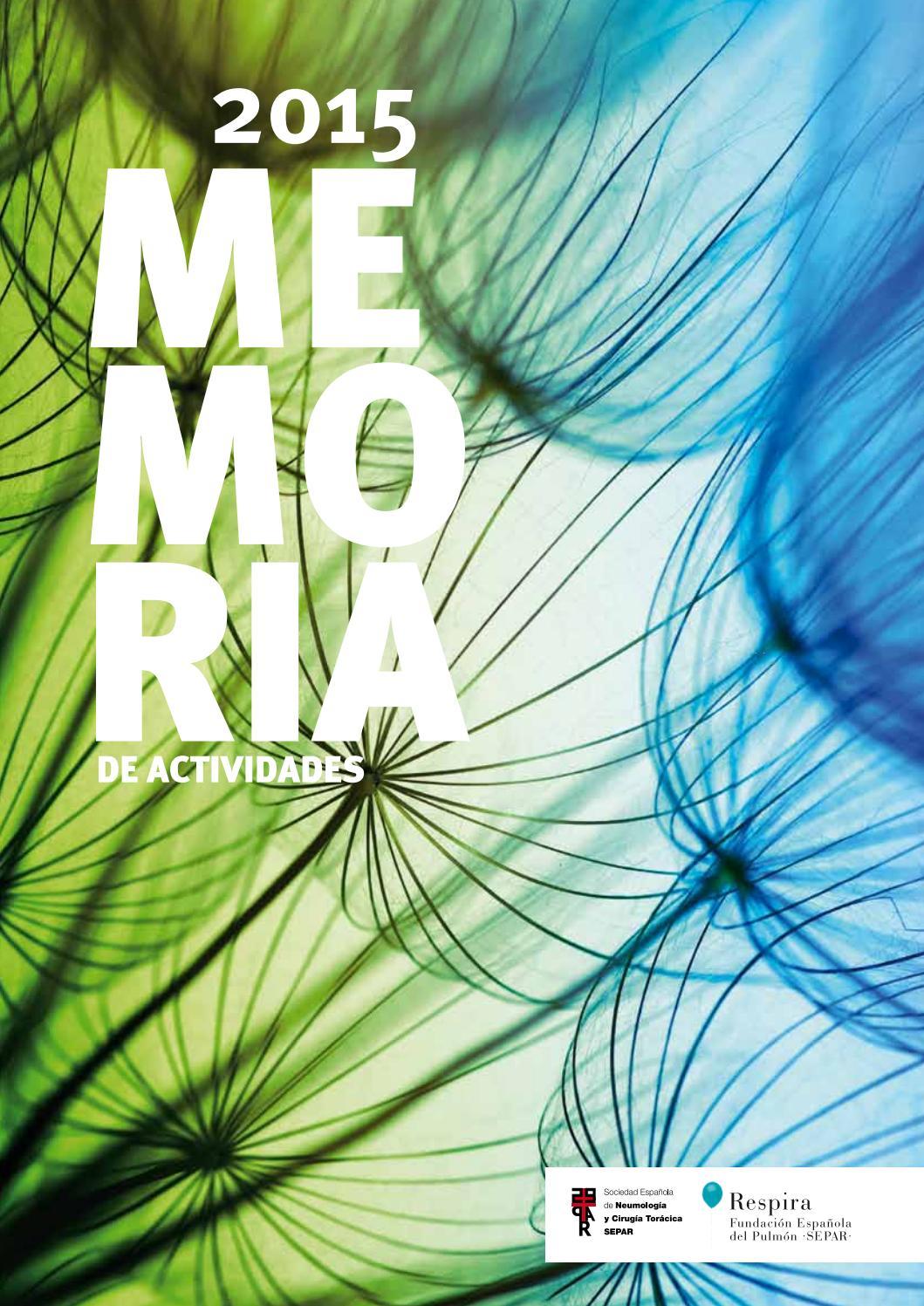 Memoria de actividades SEPAR 2015 by SEPAR - issuu