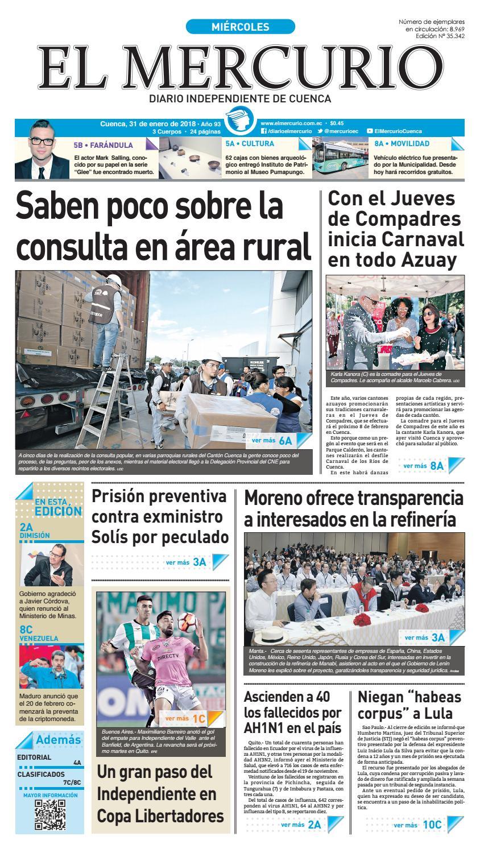 hemeroteca 31-01-2018 by Diario El Mercurio Cuenca - issuu