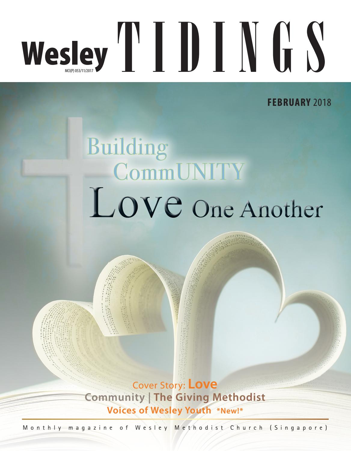 Lent Community Calendar Readings For February 2020 & March 2020 Methodist Wesley Tidings Newsletter February 2018 by Wesley Methodist Church