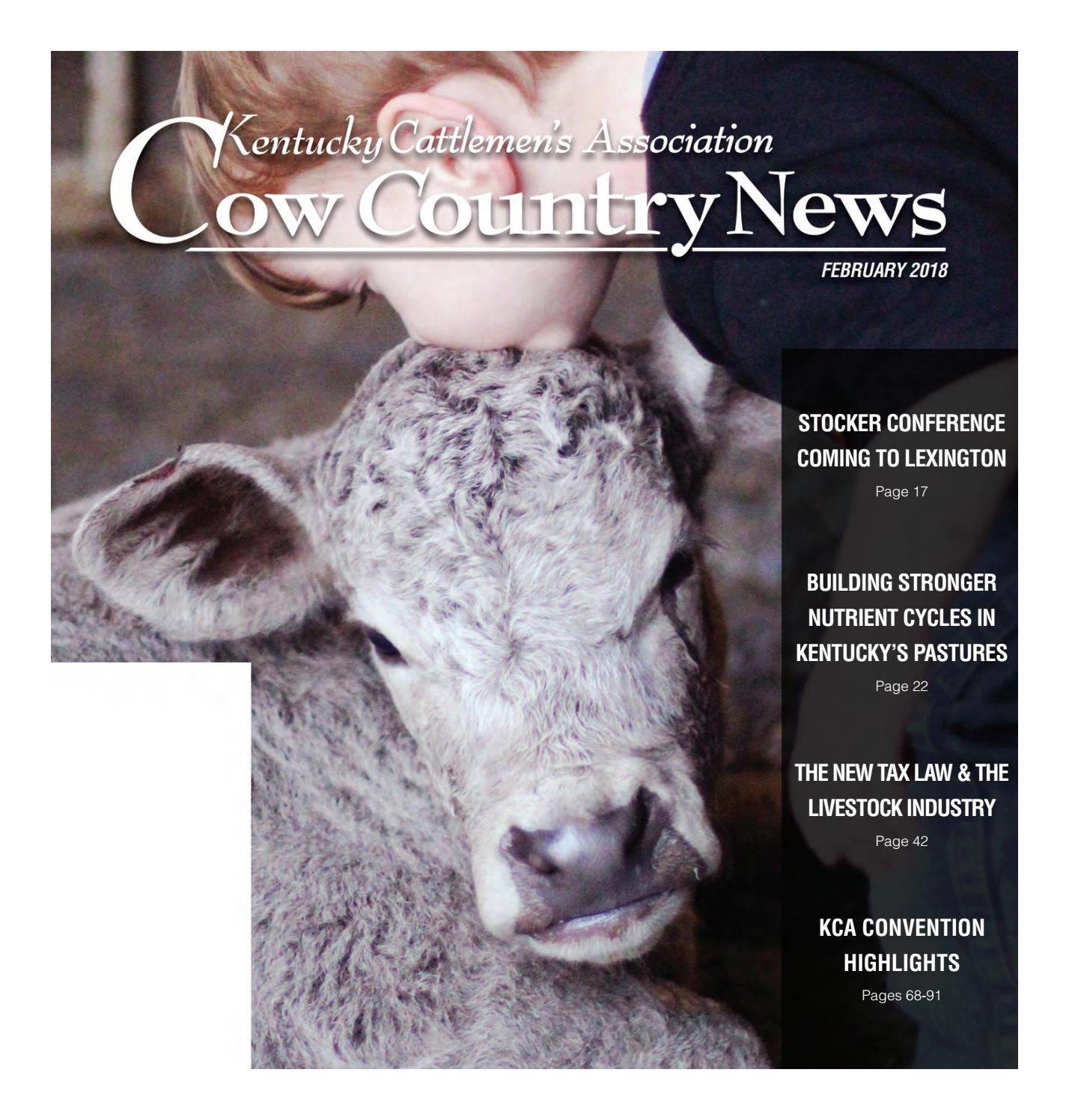 Cow Country News - February 2018 by The Kentucky Cattlemen's