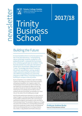 School Of Business Newsletter By Tcd Alumni  Issuu