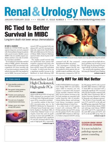 Renal Urology News Jan Feb 2018 Issue By Haymarket Media Issuu