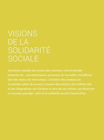 Page 7 of Visions solidaires pour demain #1 - Visions de la solidarité sociale