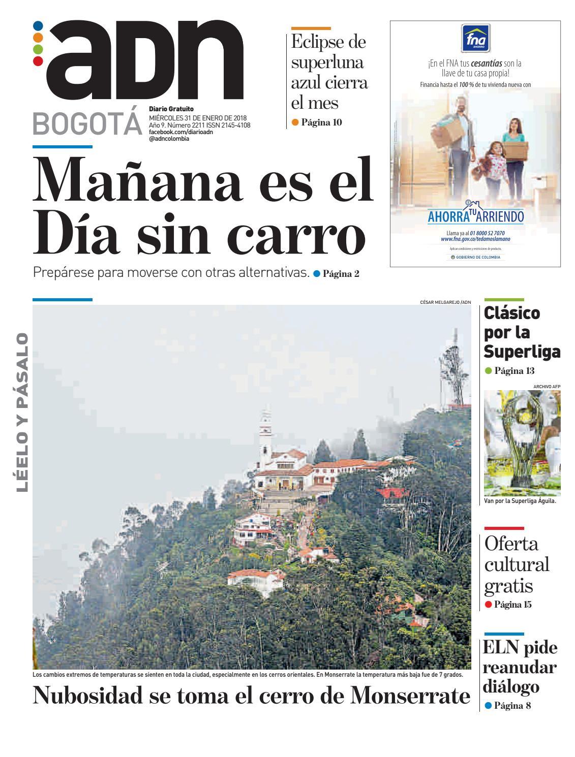 ADN Bogotá (31/01/2018) by diarioadn.co - issuu