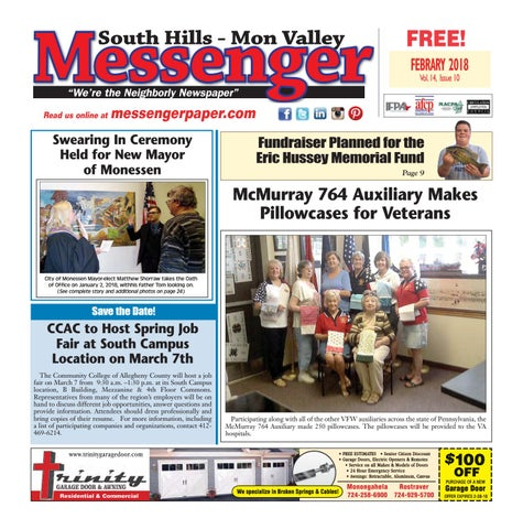 d4319f02f8 South Hills Mon Valley Messenger February 2018 by South Hills Mon ...