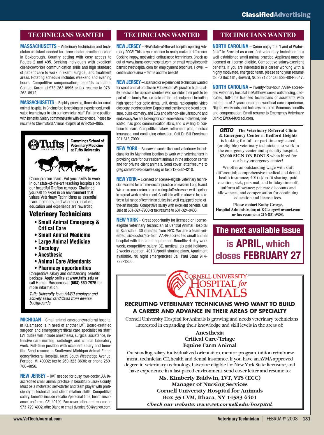Veterinary Technician | February 2008 by davidpsu - issuu