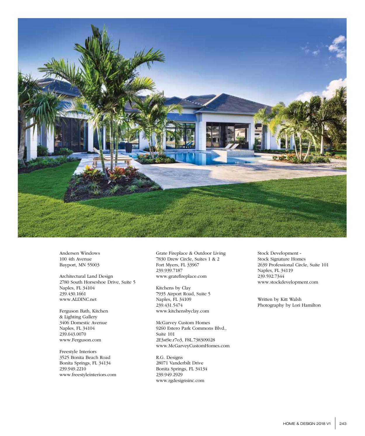 Home Design Magazine Southwest Florida Edition 2018 By