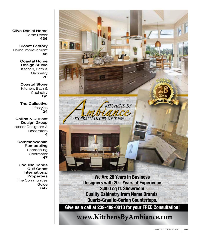 Collins & Dupont Design Group home & design magazine | southwest florida edition | 2018 by