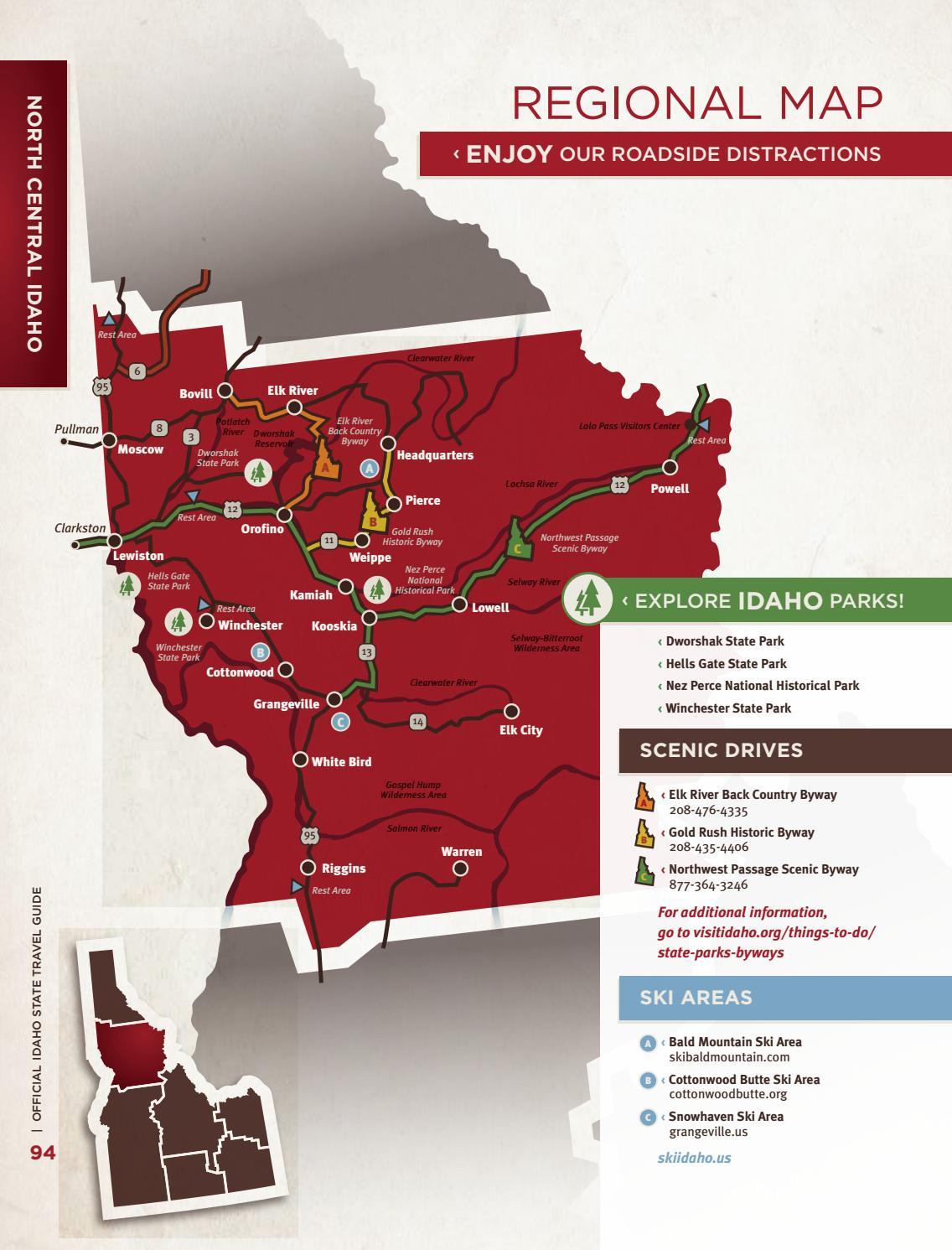 Winchester Idaho Map.2018 Idaho Travel Guide By Visit Idaho Issuu