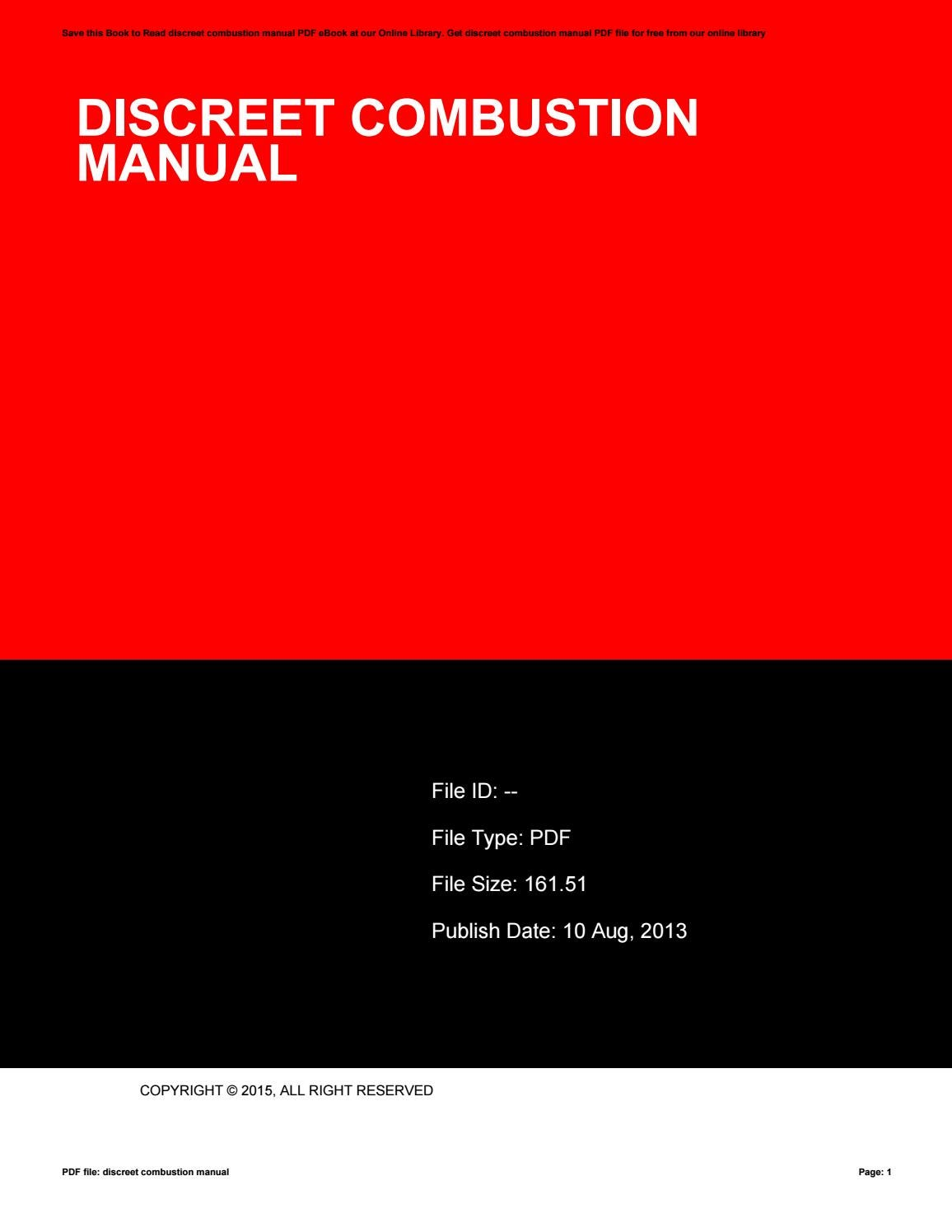 discreet combustion manual by mankyrecords59 issuu rh issuu com