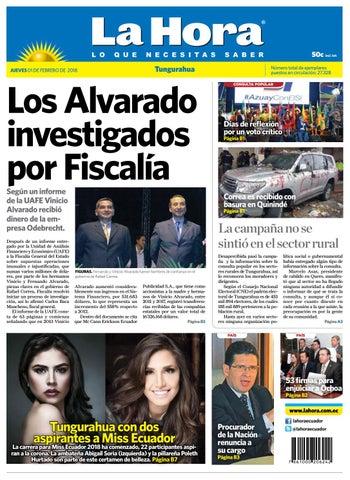 83f921fc1032 Tungurahua 01 de febrero de 2018 by Diario La Hora Ecuador - issuu