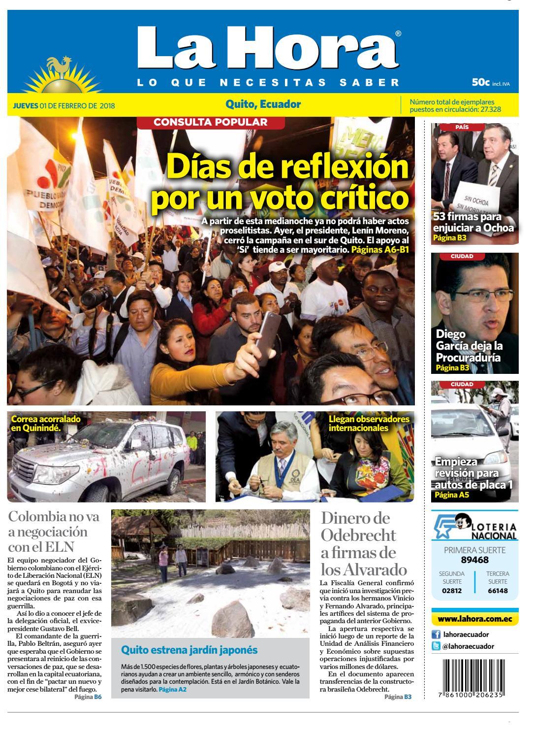 Quito 01 de febrero de 2018 by Diario La Hora Ecuador - issuu