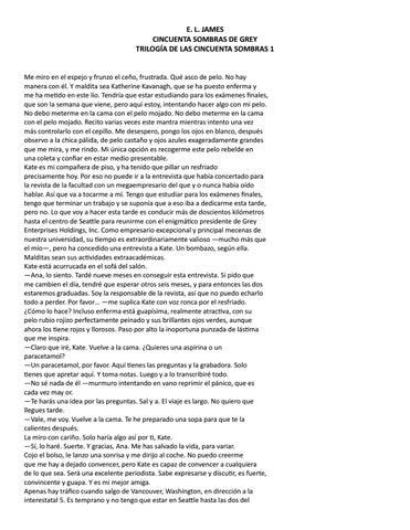 E. L. JAMES CINCUENTA SOMBRAS DE GREY TRILOGÍA DE LAS CINCUENTA SOMBRAS 1  Me miro en el espejo y frunzo el ceño aa7faa77570