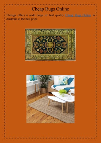Designer Rugs Australia By The Issuu