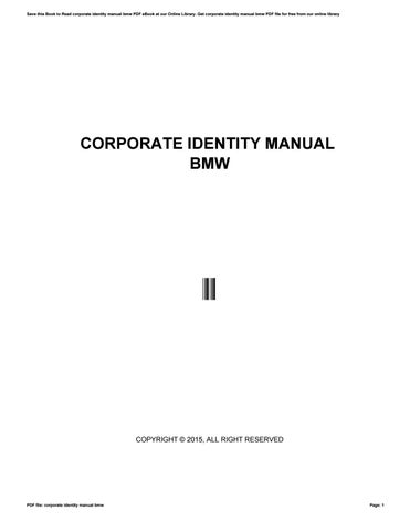 corporate identity manual bmw by mor19044 issuu rh issuu com bmw corporate identity manual pdf Identity Food Corporate