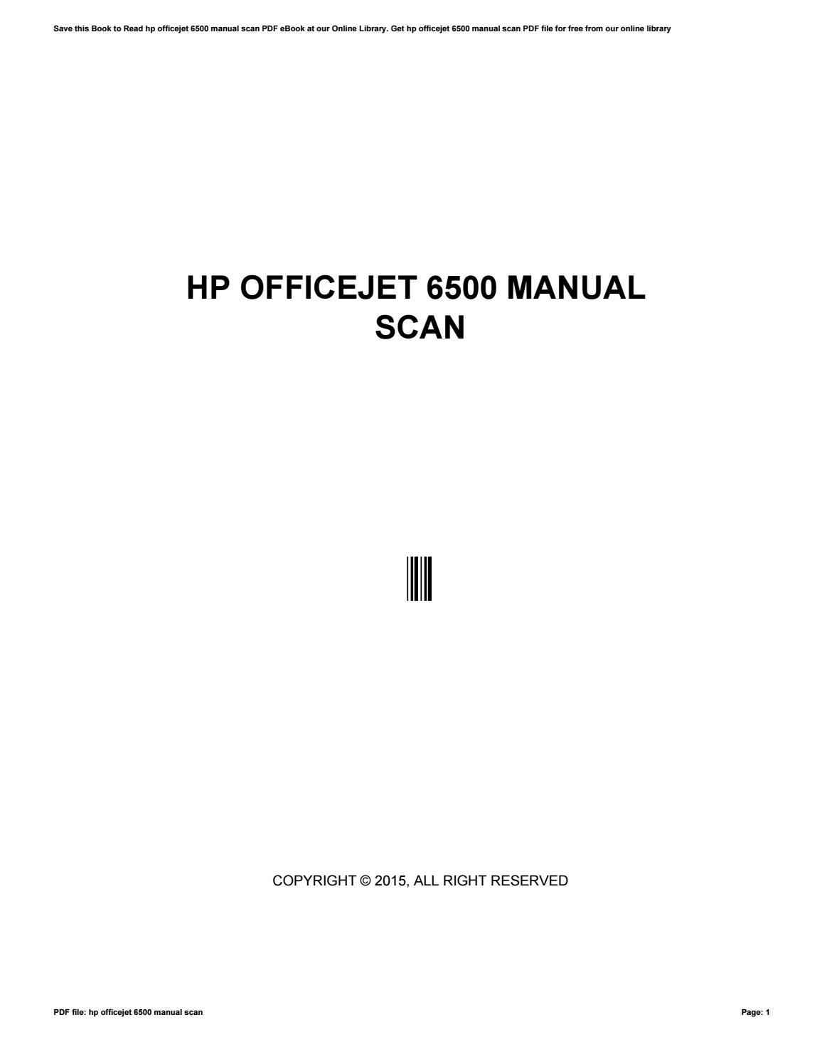 hp officejet 6500 manual scan by j5310 issuu rh issuu com HP Officejet 6500 Wireless HP Officejet 6500 Wireless