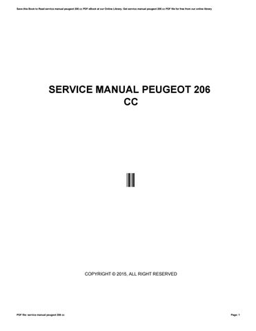 service manual peugeot 206 ccj5310 - issuu