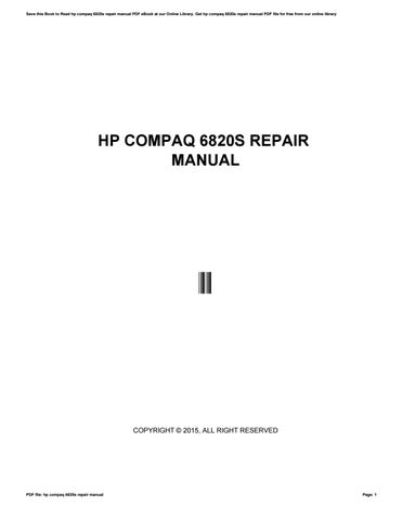 manual hp compaq nx7400