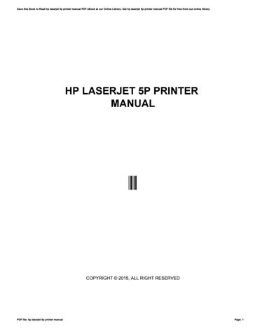 Hp laserjet 5p printer manual by reddit53 issuu save this book to read hp laserjet 5p printer manual pdf ebook at our online library get hp laserjet 5p printer manual pdf file for free from our online fandeluxe Images