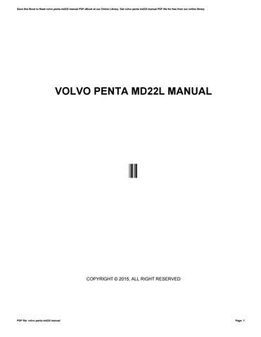 volvo penta md22l manual by te739 issuu rh issuu com Volvo Penta Parts Volvo Penta Parts