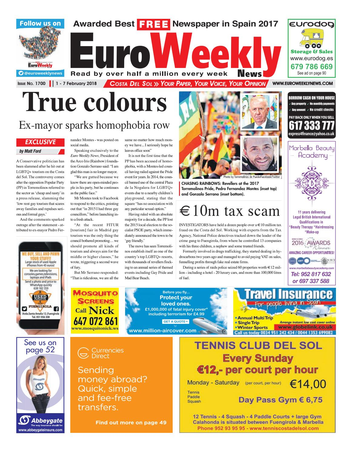 Euro Weekly News - Costa del Sol 1 - 7 February 2018 Issue 1700 by Euro  Weekly News Media S.A. - issuu 30113a153