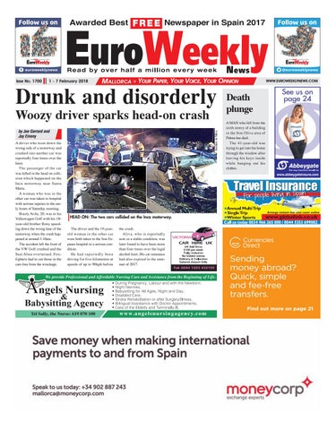buy popular 563d4 c715f Euro Weekly News - Mallorca 1 - 7 February 2018 Issue 1700