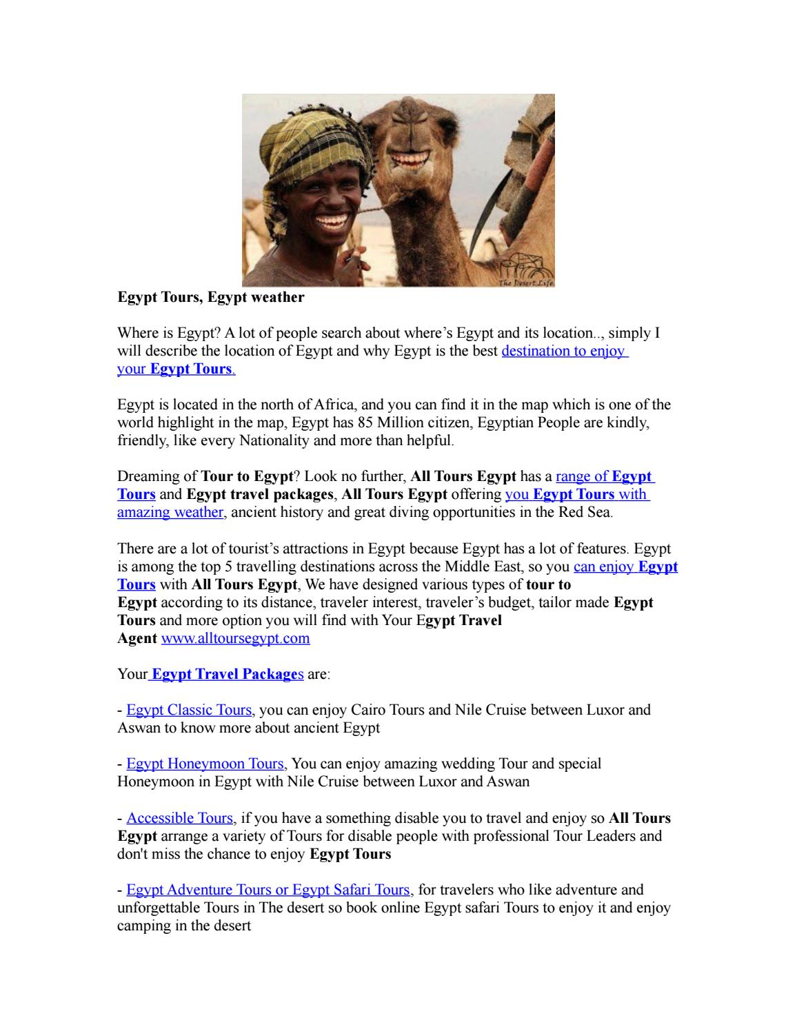 Tailor made tour in egypt 2 by AllTours Egypt - issuu