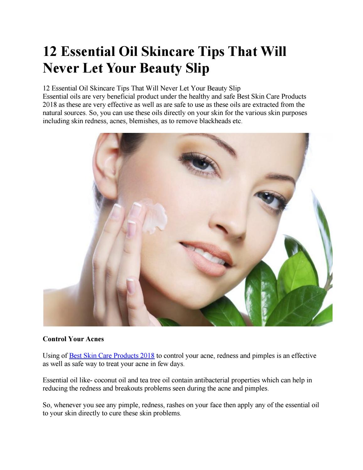 12 Essential Oil Skincare Tips That Will Never Let Your Beauty Slip By Drozex1 Issuu