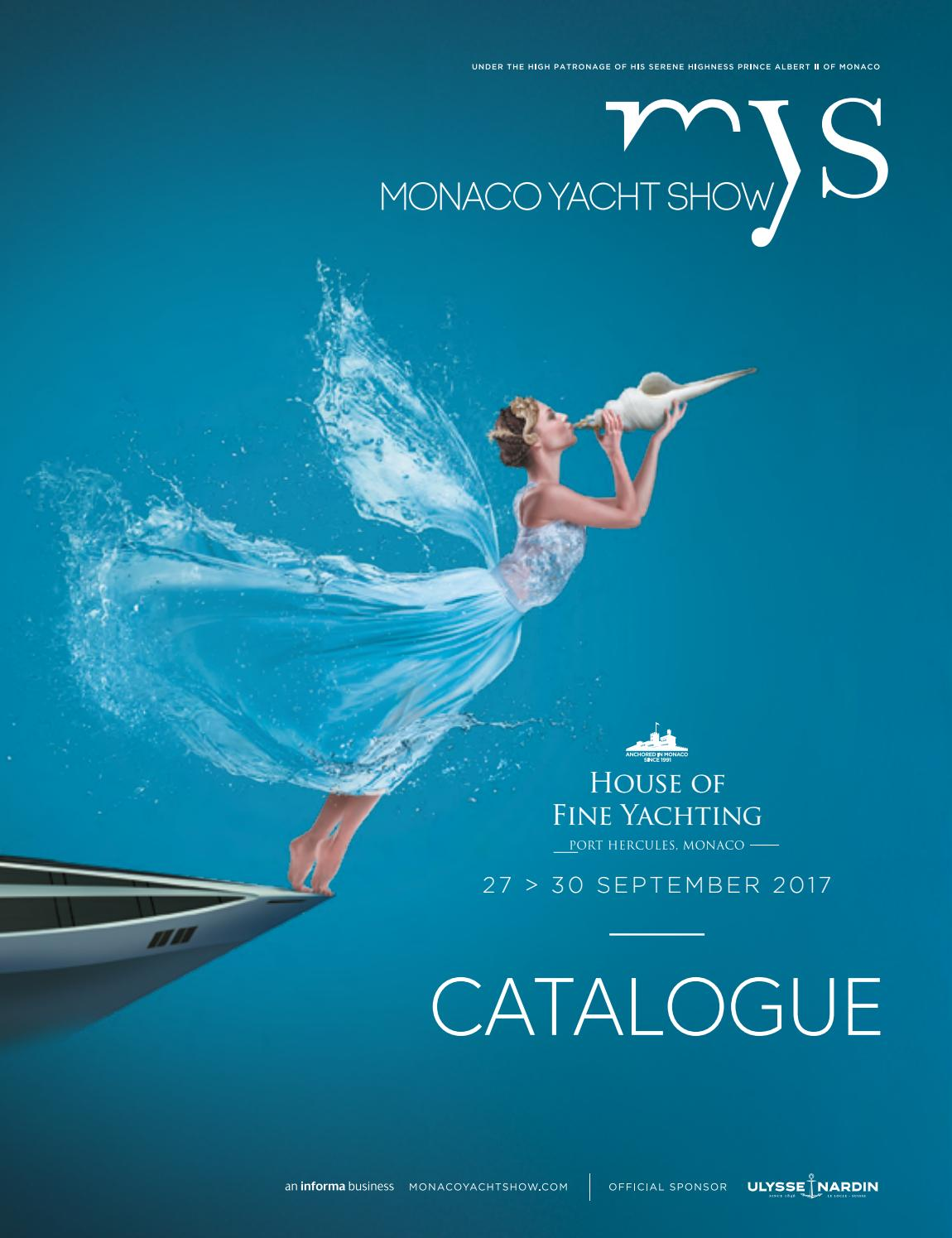 Monaco Yacht Show Catalogue 2017 By Monacoyachtshow Issuu
