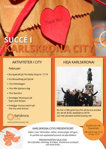 561c7093f5fc Karlskrona City Februari 2018 by Tidningen Succé Blekinge - issuu