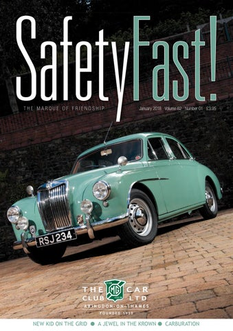 SafetyFast! January 2018 by MG Car Club - issuu
