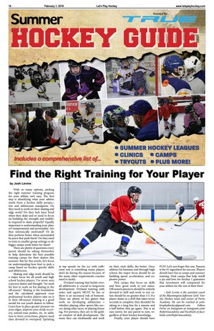 Let's Play Hockey's Summer Hockey Guide 2018 - Presented by
