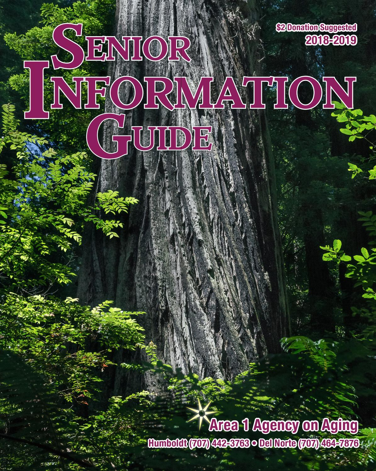 Senior Information Guide 2018-2019 by Area 1 Agency on Aging