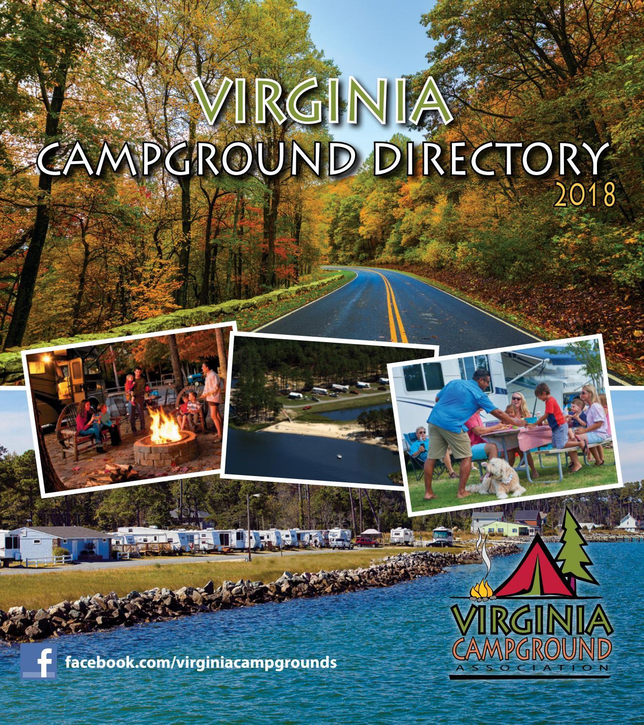 Virginia Campground Directory 2018 By Stallard Studios Publishing