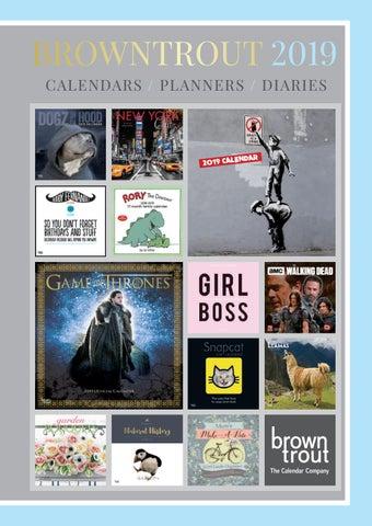 Browntrout Publishers Ltd UK 2019 Calendar Catalogue by