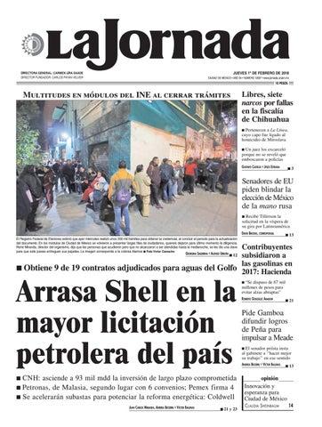 La Jornada 02 01 2018 By La Jornada Issuu