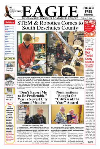 3b49310577a7 The Newberry Eagle Newspaper February 2018 by The Newberry Eagle and ...