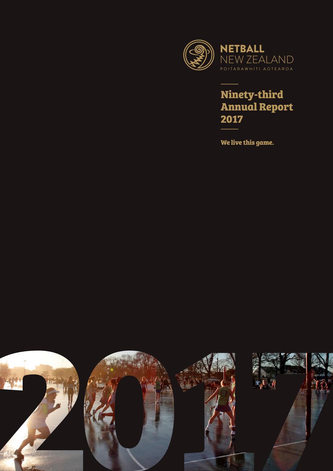 Netball New Zealand Annual Report - 2017 by Netball NZ - issuu