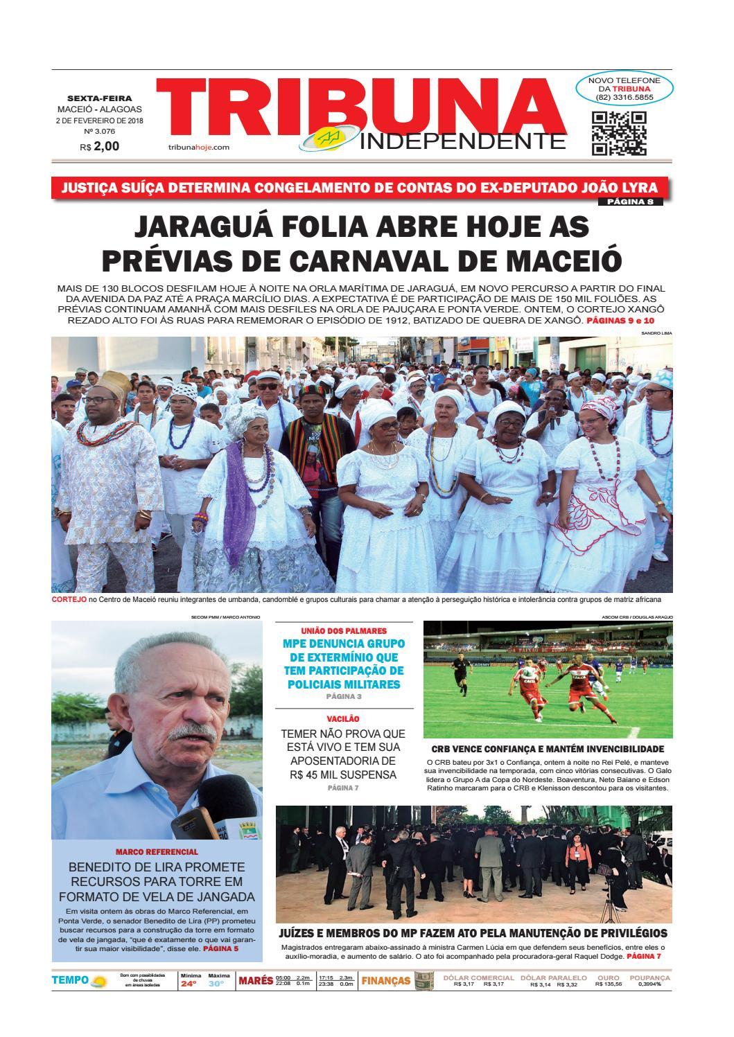 640d96e71c Edição número 3076 - 2 de fevereiro de 2018 by Tribuna Hoje - issuu