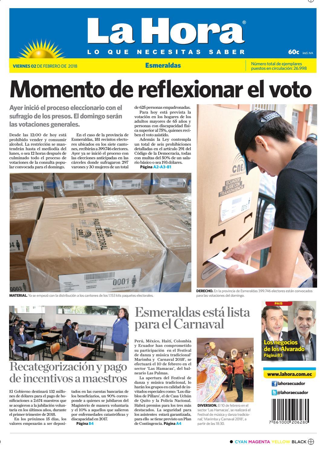 Esmeraldas 02 de febrero de 2018 by Diario La Hora Ecuador - issuu
